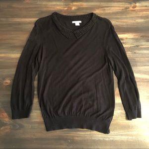 H&M Peter Pan Collar Sweater Size Large